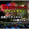 長島スパーランド|カウントダウン2019|出演アーティストやその魅力に迫る!