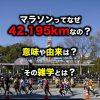 マラソンってなぜ42.195kmなの?意味や由来は?その雑学とは?